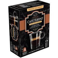 Cafe Turino Apulia Italian Style Espresso Nespresso Compatible Capsules 022 Oz 10 Count