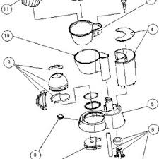 The Exploded View Of An Example Coffee Maker