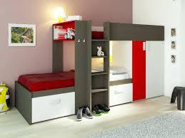 lits superposes d angle lits superposés julien 2x90x190cm armoire intégrée taupe et