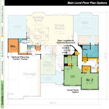 One Level Home Floor Plans Colors One Story House Floor Plan Ahscgs Com