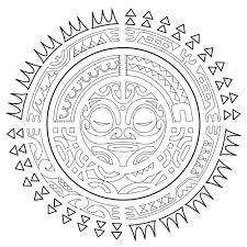 Tatouage Polynesien Le Soleil Tatouages Coloriages Difficiles