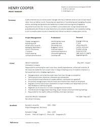 Junior Project Manager Resume Example Construction Sample Entry Level Resumes