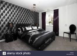 wohngebäude dramatische schlafzimmer schwarzchrom dekor