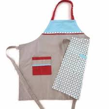 tablier cuisine pour enfant tablier de cuisine recto verso pour enfant fille ou garçon 6 8