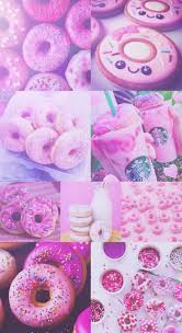 Donut Donuts Pink Purple Pretty Starbucks Wallpaper Hd IPhone Background