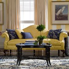 Ethan Allen Townhouse Curio Cabinet by Colored Furniture Ethan Allen Blue White And Yellow Living Room
