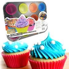 Cupcake Pan Sizes Vita With Reusable Silicon Cake Holders Regular Size And Mini