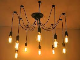 edison design pendant light edison vintage spider chandelier