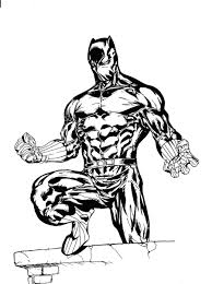 Black Panther Coloring Pages Printable Amazing Marvel Movie Page