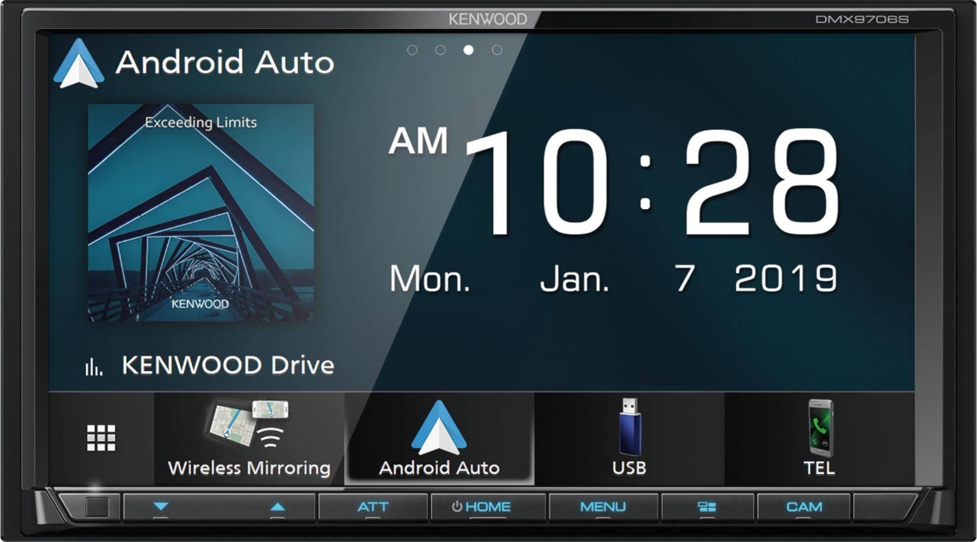 "Kenwood DMX9706S In-dash Digital Receiver - 6.95"" Touch Display"