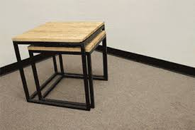Nested Cube Butcher Block Tables 17 Steps With Pictures