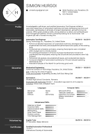 Resume Examples By Real People: Automation Test Engineer Resume ...