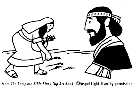 Ruth Coloring Pages Boaz