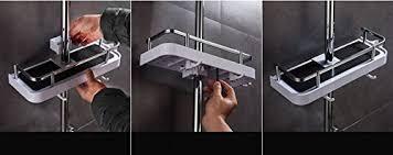 25 mm duschstangen ablage badezimmer dusche rack verstellbar