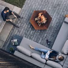 für terrasse und garten corten stahl mit rost optik design