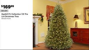 Dunhill Christmas Trees by Groupon Black Friday Dunhill Fir Collection 7 5 U0027 Pre Lit