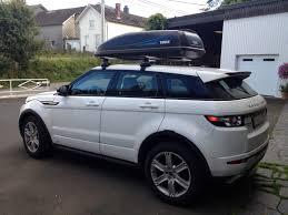 coffre de toit sur evoque range rover evoque land rover