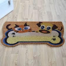 paillasson a la coupe paillasson coco découpé 40 x 75 cm chat et chien decoweb