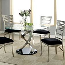 amazon com roxo modern style stain plated 5 piece round dining