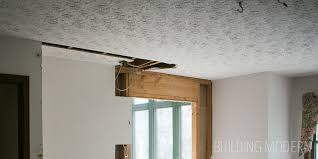 Skip Trowel Over Popcorn Ceiling by Stomped To Smooth Skim Coating A Ceiling Diy