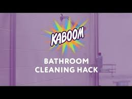 kaboom bathroom cleaning hack