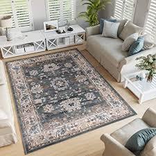 tapiso colorado teppich wohnzimmer kurzflor orientalisch blau creme grün floral ziegler ornament muster traditionell orientteppich ökotex 140 x 200 cm