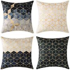 miulee pack 4 dekorative dreidimensionale kleine diamant kissenbezug kissen fällen wurfkissen einzigartiges design outdoor shell kissenbezug für
