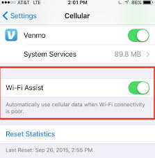 Limit Data Usage in iOS 9 with Wi Fi Assist