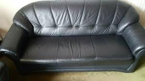 schwarze leder sitzgarnitur