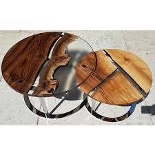 runder couchtisch aus holz und harz design made in italy sole