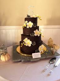 Chocolate Decadence Wedding Cake With Fresh Succulents