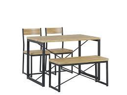 set flixton tisch 2 stühle bank heller holzfarbton ch