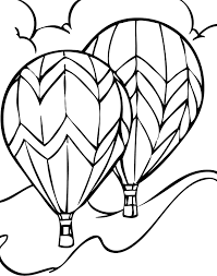 Two Large Balloon Coloring Pages
