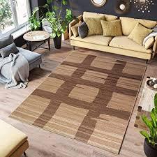 tapiso teppich scarlet wohnzimmer modern farbe braun beige