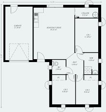 maison plain pied 2 chambres plan maison plain pied 3 chambres 110m2 luxe plan maison plain pied