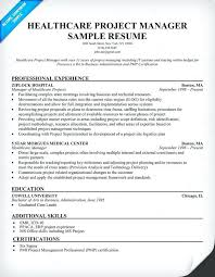 Project Manager Resume Examples 2016 Healthcare Example