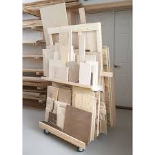 mobile sheet goods rack woodworking plan from wood magazine