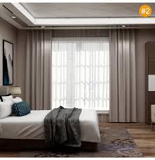 minimalismus vorhang uni für schlafzimmer