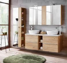 badmöbel set 8 tlg badezimmerset perugia gold eiche ohne waschbecken