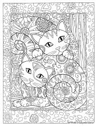 Cat Lovers And Colorists Are Enchanted With These Detailed Designs Where Each Is Arrayed In A Field Of Flowers Paisleys Stars