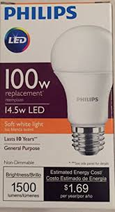philips 455675 14 5w 100w led soft white non dimmable a19 light