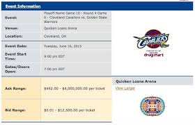Cavs Floor Box Seats by How Much Cleveland Cavaliers 2015 Nba Finals Tickets Will Cost