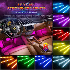 Amazon.com: Car LED Strip Light, Wsiiroon 4pcs 48 LED Multicolor ... Exquisite Sets Pieces Car Led Interior Decoration Under Dash 2010 2014 F150 Raptor Led Ambient Lights F150ledscom Lil Ray Raises Bar On Interior Truck Design With Pride Polish Amazoncom Strip Light Wsiiroon 4pcs 48 Multicolor Automotive Bars Strips Halos Bulbs Custom Kits Colored Lighting Services In Evansville Newburgh Southern 8x24 Undeglow Tubes 6x10 4x3ft Wheel Stunning Bar Headlights In My 1985 Chevy Silverado Trucks My Truckzzz Youtube