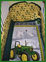 Pink John Deere Bedroom Decor by New John Deere Baby Crib Bedding Set In Brown Plaid Tractor Sets
