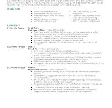 Resume Examples With Server Experience Packed Restaurant Samples Skills Objective Statement To Create Cool Sample