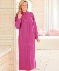 robe de chambre le robe de chambre en molleton polaire 130 cm vison femme damart