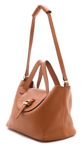 meli melo thela handbag tan in brown lyst