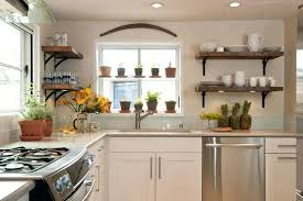 Wood Shelves For Kitchen Traditional With Wooden Rustic Floating