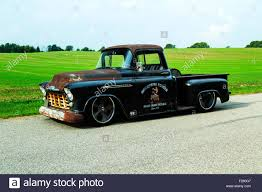 1956 Chevrolet Custom Rat Rod Pickup Truck Stock Photo: 87413319 - Alamy