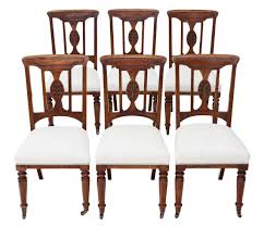 Antique Quality Set Of 6 Oak Art Nouveau Dining Chairs - Prior ... Set Of 8 Vintage Midcentury Art Nouveau Style Boho Chic Italian Stunning Of Six Inlaid Mahogany High Back Chairs 2 Pair In Antiques Atlas Lhcy Solid Wood Ding Chair Armchair Lounge Nordic Style A Oak Set With Table Seven Chairs And A Side Ding Suite Extension Table France Side In Leather Chairish Gauthierpoinsignon French By Gauthier Louis Majorelle Caned An Edouard Diot Art Nouveau Walnut And Brass Ding Table Four 1930s American Classical Shieldback 4